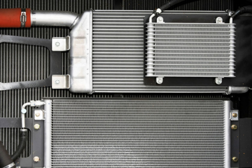 commericial and public service vehicle radiator heat exchanger