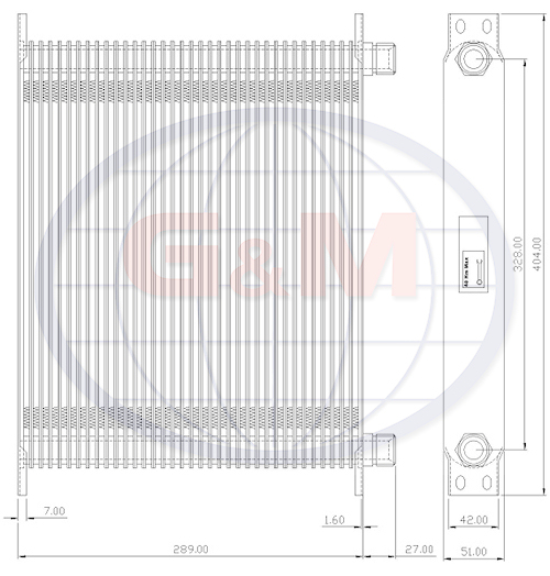 GMC529    Plate Oil Cooler
